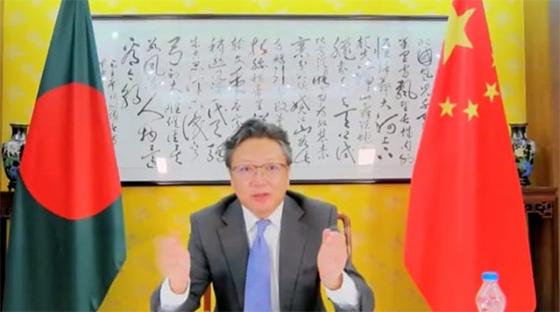 উন্নয়ন যাত্রায় চীন-বাংলাদেশ একসাথে, কাঁধে কাঁধ মিলিয়ে চলছে: লি জিমিং